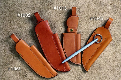Sheaths with pouch and sharpening steel